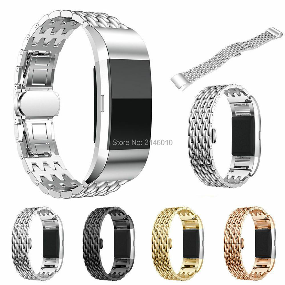 Metal Stainless Steel Strap Wrist Watch Band Bracelet For Fitbit Charge 2 / 2 HR