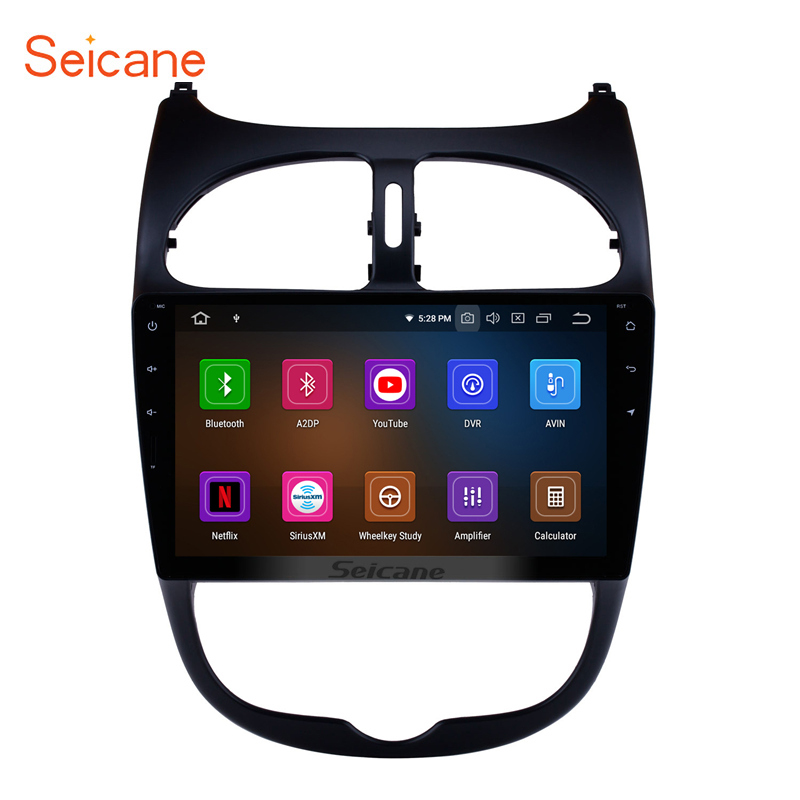Seicane <font><b>Android</b></font> 9.0 9 inch Car Radio GPS Head Unit For 2000-2016 <font><b>PEUGEOT</b></font> <font><b>206</b></font> DVD car Multimedia Player Wifi Stereo image