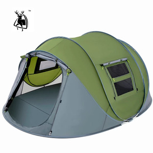 Image 1 - Outdoor camping tent Speed open tents Throw pop up Hiking automatic season  Family Party Beach Tents large space Free shipping