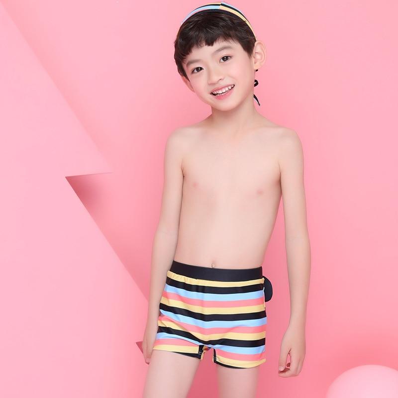 2018 Xiqi New Style KID'S Swimwear BOY'S Cartoon Swimming Trunks Bear CHILDREN'S Swimming Trunks Set