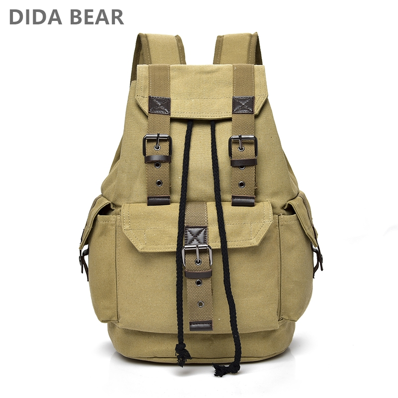 DIDABEAR Canvas Backpack Men Backpacks Large Male Mochilas Feminina Casual Schoolbag For Boys High Quality-in Backpacks from Luggage & Bags