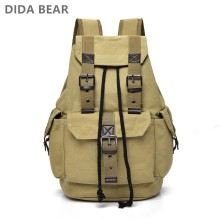 DIDABEAR Canvas Backpack Men Backpacks Large Male Mochilas Feminina Casual Schoolbag For Boys High Quality(China)