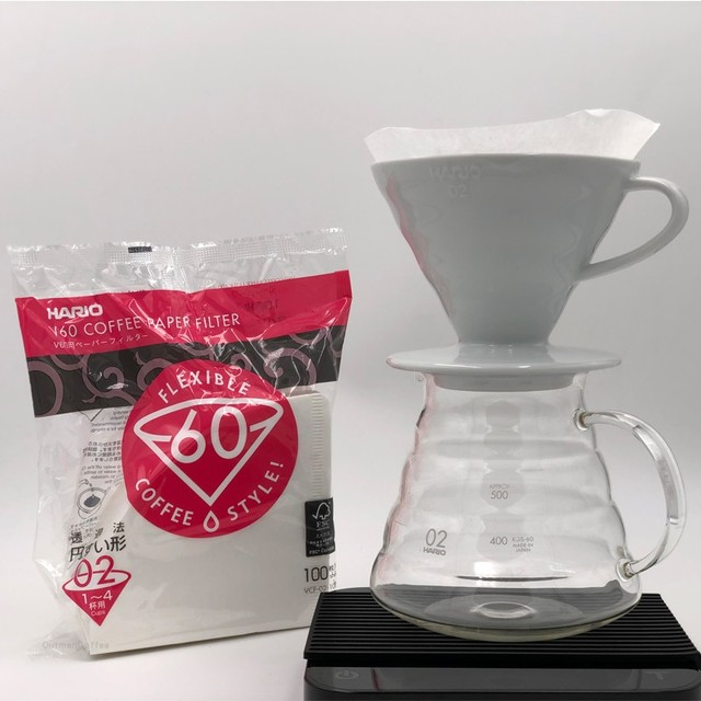 Japan Imports Hario V60 Coffee Filter 01 02 Count Coffee Natural Paper Filters For 4 Cups For Barista VCF-01-100 Dripping Paper 3