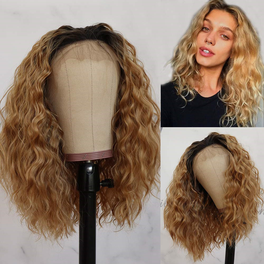 Loose Wave 1BT27 13x4 Lace Front Human Hair Wigs Ombre Blonde Brazilian Remy HBleached Knots Glueless Wig With Baby Hair