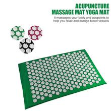 66 x 42cm Massager Cushion Massage  Fitness Yoga Spike Mat Lotus Acupuncture Bed Pilates Fit