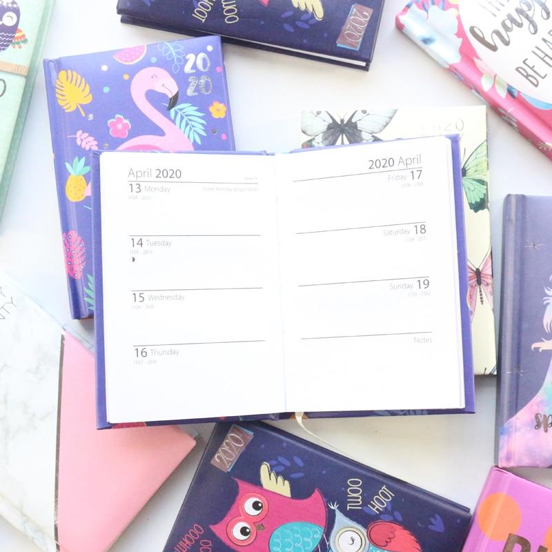 2020 Year Calendar School Student Diary Weekly Planner Notebooks Stationery,cute Cartoon Pocket Agenda Planner Organizer Gift