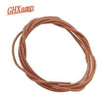 """GHXAMP 1M סאב רמקול עופרת חוט קלוע נחושת חוט עבור 5 """"6.5"""" 8 """"10"""" אינץ וופר PA רמקול קול סליל תיקון"""