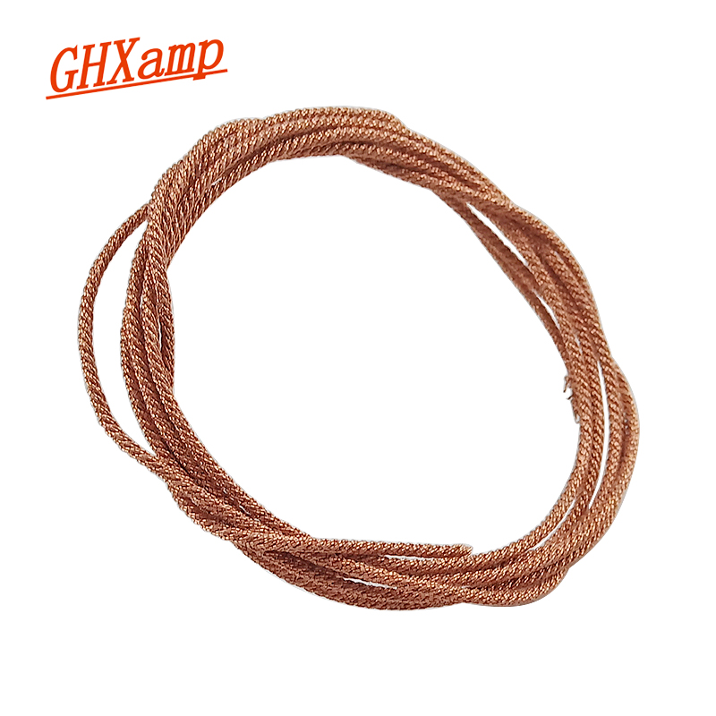 GHXAMP 1M Subwoofer Speaker Lead Wire Braided Copper Wire For 5