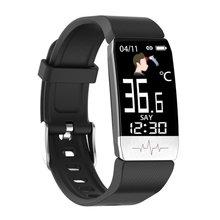 Newest T1s Smart Bracelet ECG+PPG Body Temperature Fitness Tracker Blood Pressure Waterproof Music Control Smart Band Sport