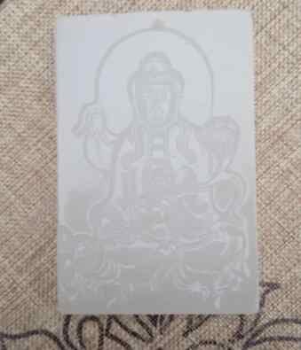 Yy808>>>> haute qualité marque bijoux pendentif Afghanistan pierre blanche Guanyin assis
