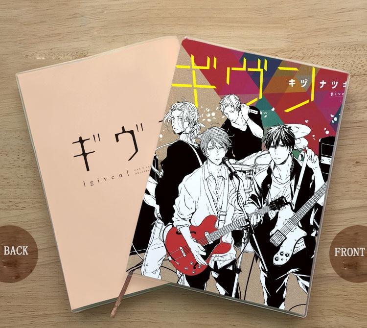 Anime GIVEN Sato Mafuyu Uenoyama Ritsuka Notebook Student Delicate Eye Protection Notepad Diary Birthday Gift