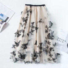 High quality Embroidery skirts womens Summer autumn 2020 vintage Ol elegant retr
