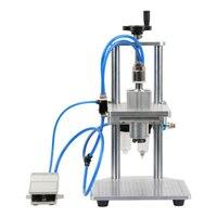 Pneumatic Vial Bottle Capping Machine Semiautomatic Aluminum Cap Ampoule Infusion Bottle Locking Machine Pedal Filling Sealer
