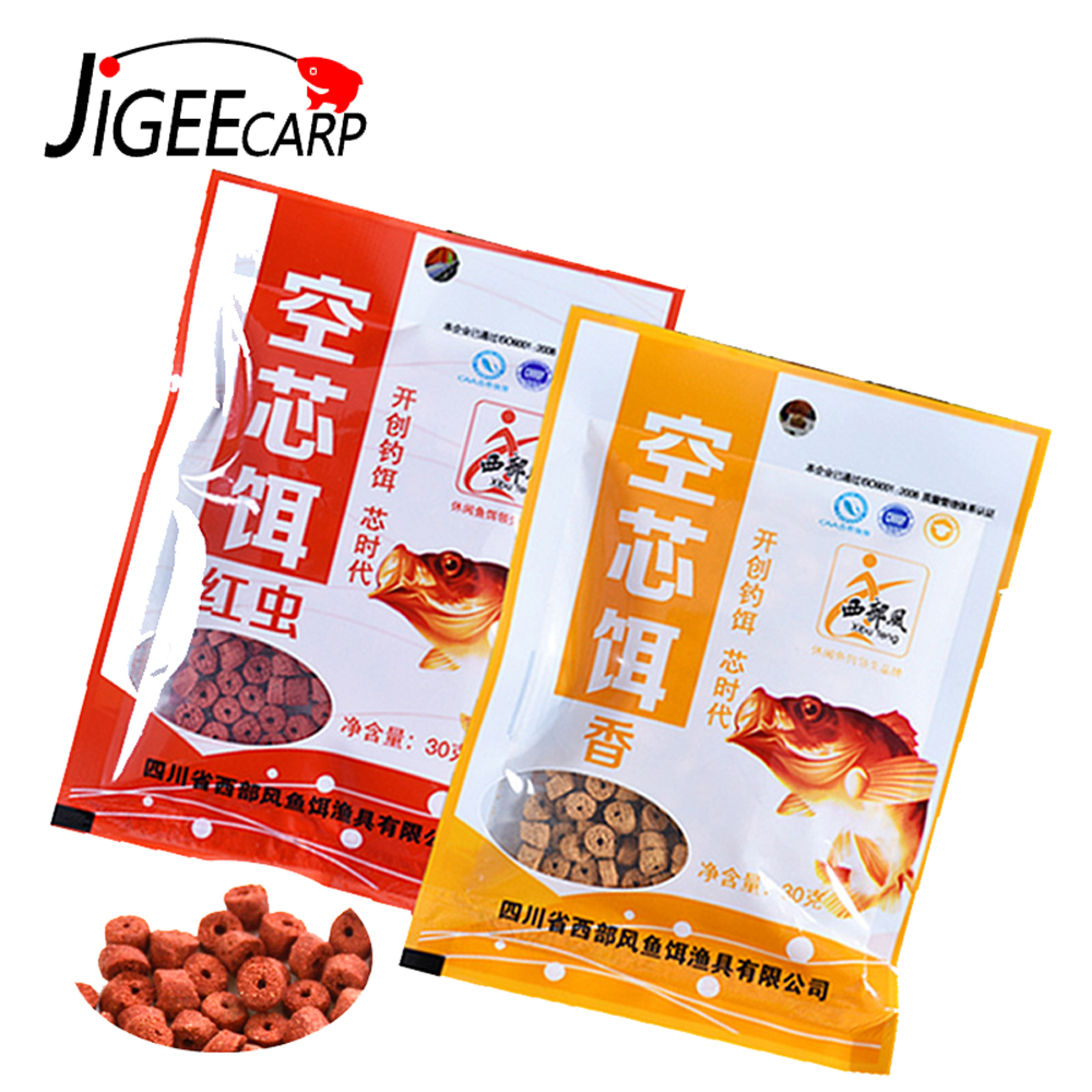 JIGEECARP 1 Bag Carp Fishing Bait Grass Carp Baits Fishing Baits Lure Formula Insect Particle Hook Up Pellets