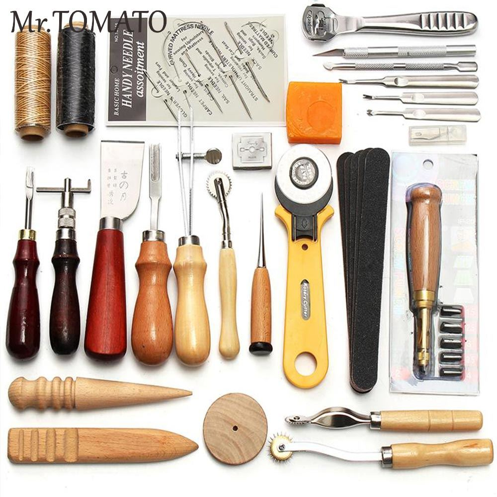 DIY Leather Craft Tools Kit Punch Cutter Working Punching Carving Hand Tools