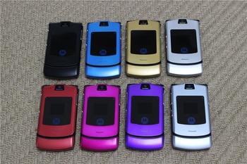 V3i 100% Original Motorola Razr V3i Quad Band Flip GSM Bluetooth MP3 Unlocked Old Used Mobile Phone 2