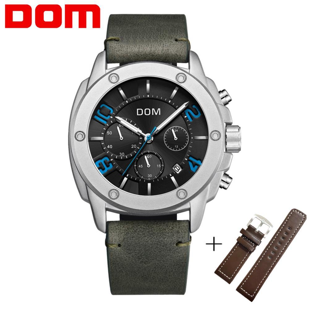 DOM Men Fashion Watch 30m Waterproof Wristwatch Luminous Quartz Clock Sport Watch Male Relogio Masculino Sport Watch Men M-1229
