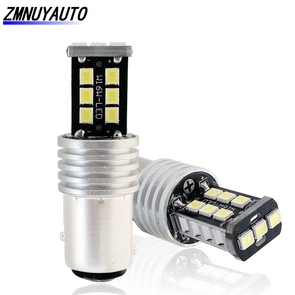 2PCS BAY15D <font><b>Led</b></font> Bulb 1157 <font><b>P21</b></font>/5W <font><b>Canbus</b></font> <font><b>Led</b></font> Brake Lights Red White Yellow Car Tail Bulbs Parking Lights Auto Lamps 12V image