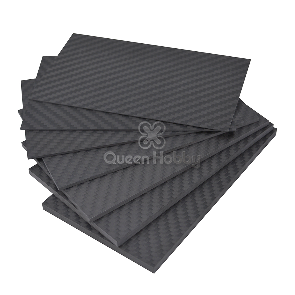125mm X 75mm Pure 3K Carbon Fiber Plate Panel Sheets 0.5mm 1mm 1.5mm 2mm 3mm 4mm 5mm Thickness High Composite Hardness Material