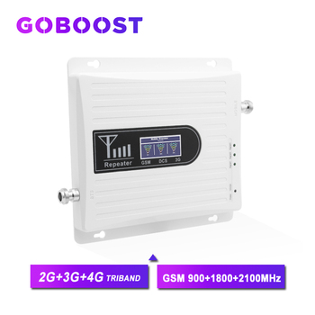 Repeater GSM 900MHZ 2G 3G 4G Signal Booster 900 1800 2100MHZ Mobile Phones Cellular Amplifier GSM WCDMA DCS 70dB Booster Kit #