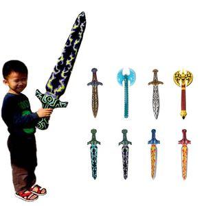 Новые надувные мечи, детские игрушки, пиратские мечи, детские подарки, мозаичные мечи