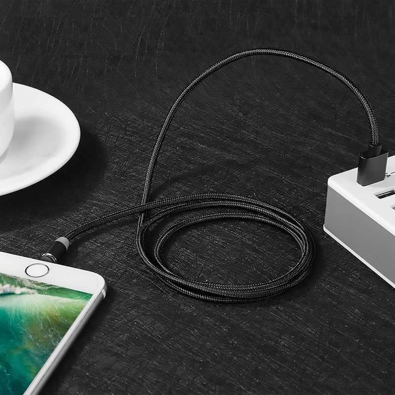 Kabel Cepat Pengisian Micro USB Tipe C Kabel untuk Iphone Samsung Xiaomi Ponsel Magnet Charger USB Kabel Kawat 1 M