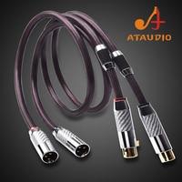 ATAUDIO Pure Silver HIFI XLR Cable High Quality 2XLR Male to Female Audio Cable