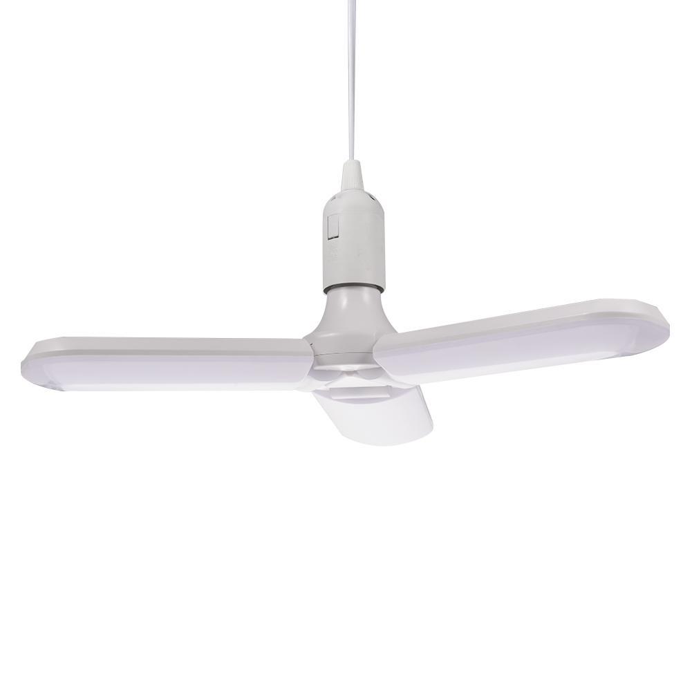 60W E27/E26 LED Bulb SMD2835 Super Bright Foldable Fan Blade Angle Adjustable Ceiling Lamp Home Energy Saving Lights