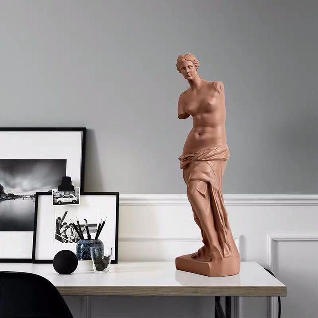 Nordic Broken Arm Venus Abstract Resin Figurine Antique Home Decor Sculpture Decoration Craft Greek Statue European Ornament 3