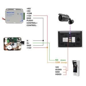 Image 5 - HomeFong Video Intercom Video Tür Telefon Türklingel Intercom für Haus Verdrahtete 7 zoll HD Monitor 1200TVL Video Türklingel Unterstützung CCTV