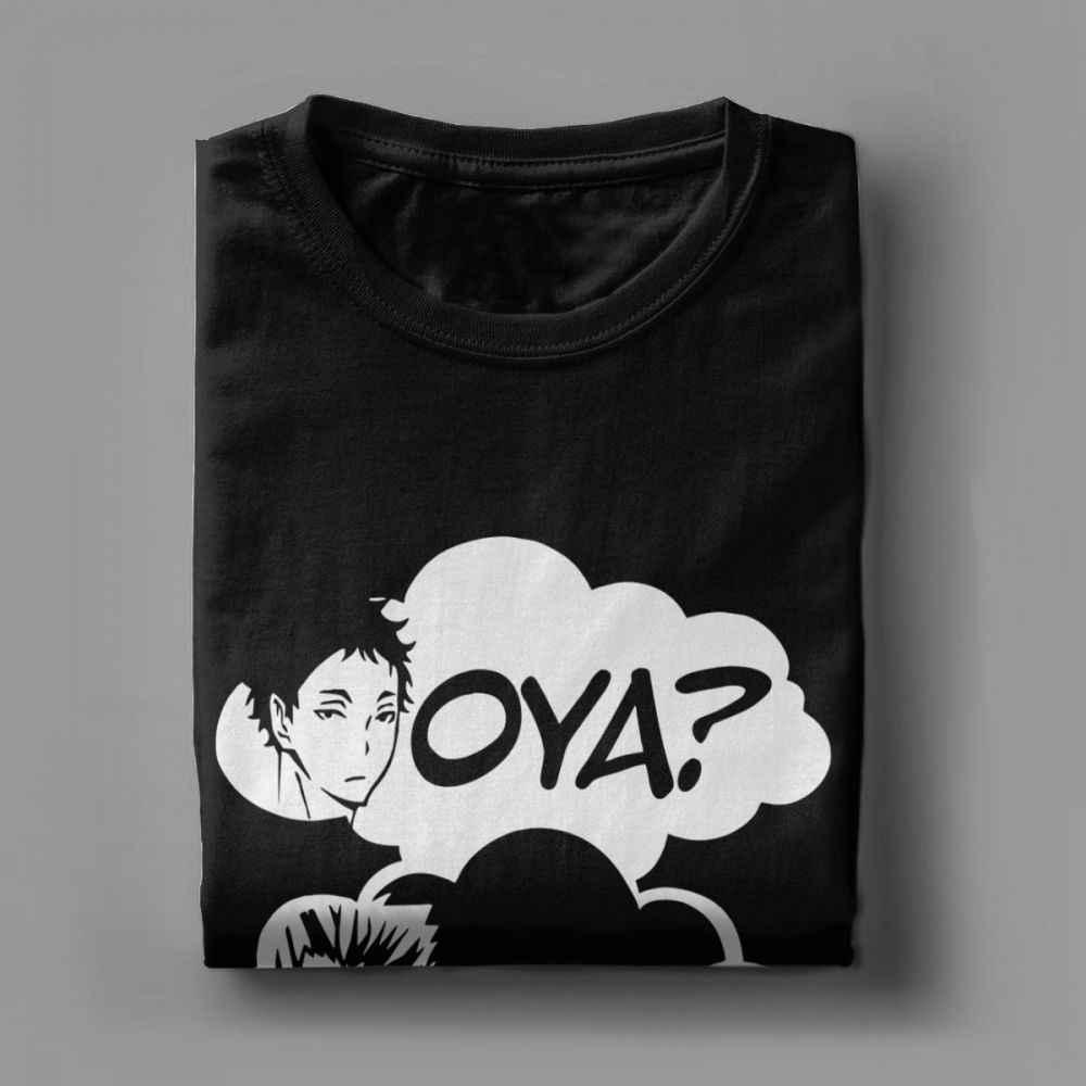 Oya Oya Oya Haikyuu męska koszulka Kuroo Anime Bokuto Manga Shoyo siatkówka projekt koszulka koszulka 100 najwyższej jakości bawełna