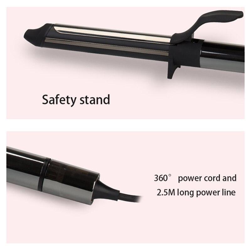 Bigoudi professionnel de titane de Nano de fer à friser rotatif de 32 mm avec l'affichage numérique de la température de LED - 5