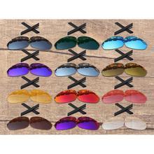 Vonxyz 20+ Color Choices Polarized Replacement Lenses & Ear Socks for-Oakley Straight Jacket 2007 Frame
