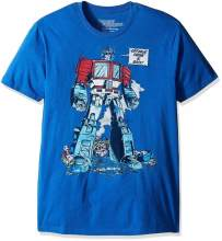 Authentic Optimus Prime Is Back T-Shirt Heather Blue S-2XL NEW(China)