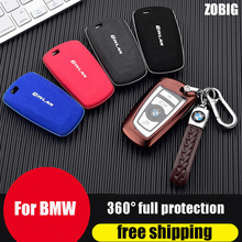 ZOBIG For BMW Key Fob Cover Protector Case for 1-7Series X3 X4 M5 M6 GT3 GT5 Remote Control TPU  Full Protection