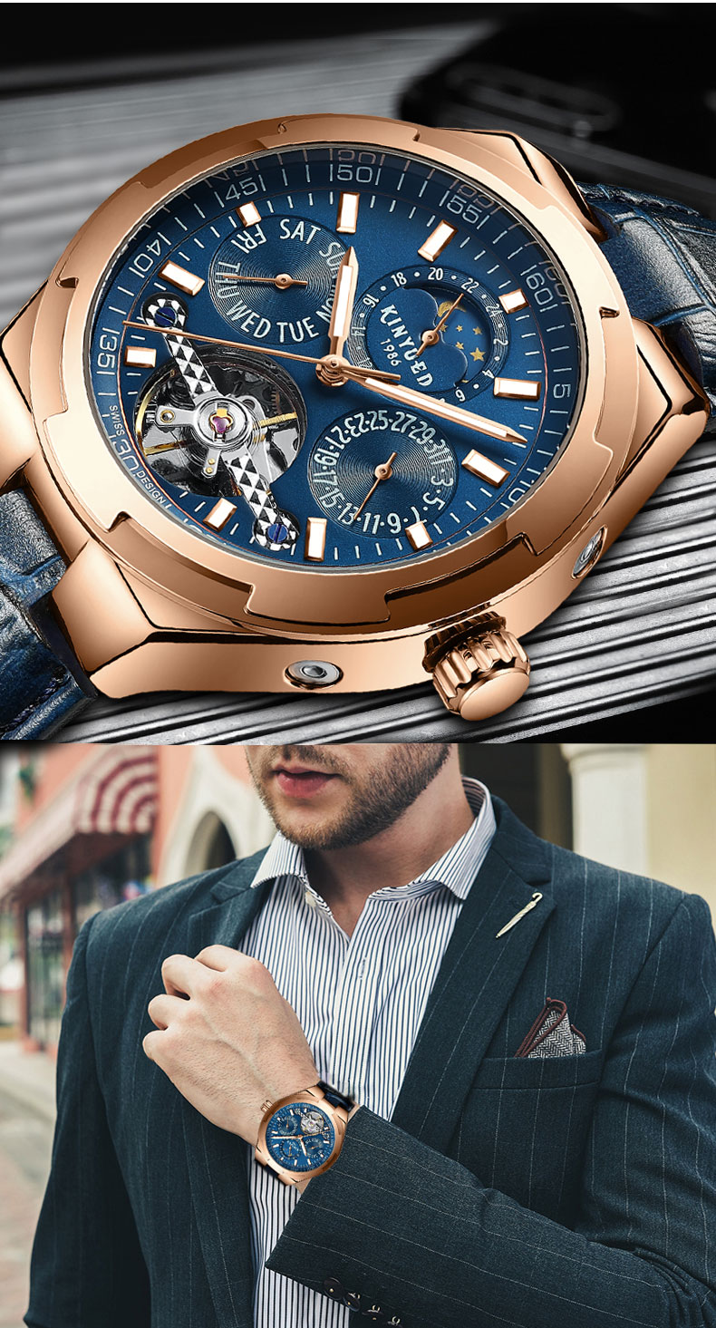 masculino negócio luminoso relógio mecânico relogio masculino j065