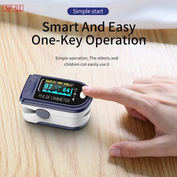 Color Finger Pulse Fingertip Oled Oximeter SPO2 PR PI Blood Oxygen With Respiratory Rate Oximetro Pulsioximetro Dedo with case image