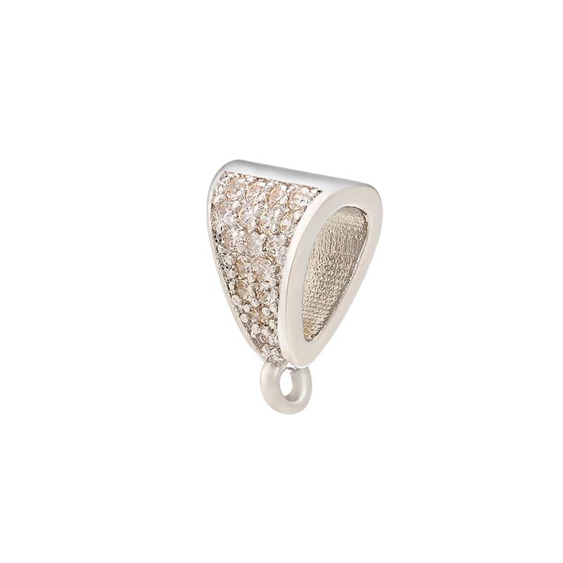ZHUKOU 8x12 мм кристалл неправильной формы застежка крючки для женщин DIY ручной работы ожерелье серьги ювелирные аксессуары Модель: VK83 - Цвет: silver