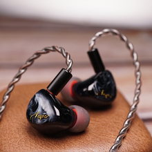 QOA Vesper 1DD + 1 נואלס BA היברידי Earbud 2 נהג יחידות HIFI אוזניות DJ מוסיקה צג IEM 2Pin לנתק אוזניות ורוד ליידי/מוחיטו