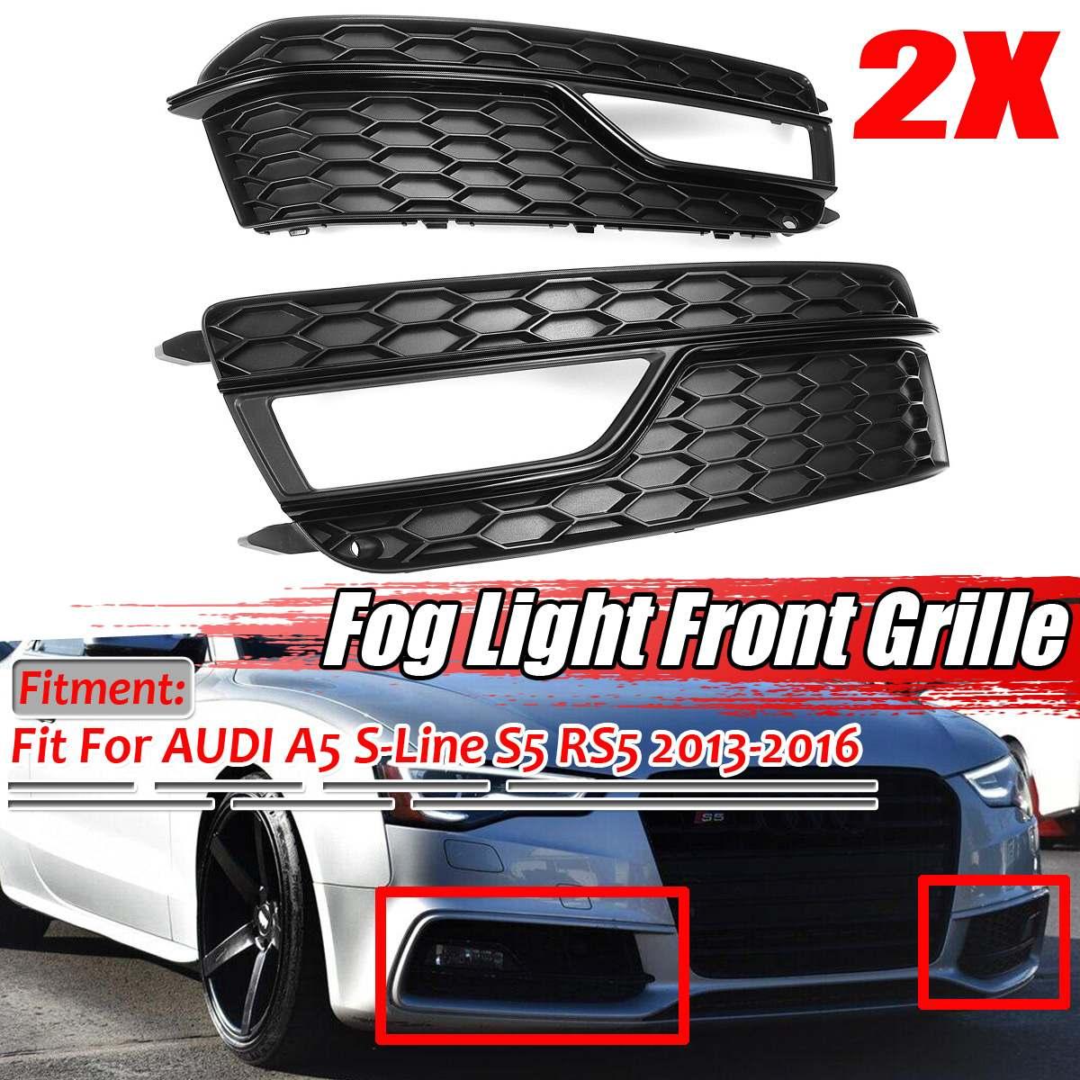 Новый автомобильный передний бампер, противотуманный светильник, решетка для AUDI A5 S Line Bumper S5 2013 2014 2015 2016, противотуманный светильник, лампа для гриля Гоночные решетки      АлиЭкспресс