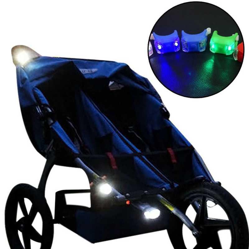 عربات الأطفال الرعاية الآمنة ليلة تذكير مصباح الأمن الضفدع عربة طفل ضوء إضاءة مقاومة للماء فلاش تحذير مصباح