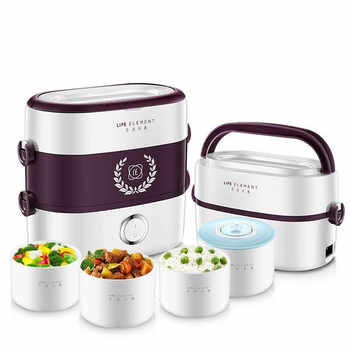 Small Portable Electric Lunch Box Multi-function Rice Cooker Independent Liner Single and Double Layer Combination Rapid Heating - DISCOUNT ITEM  31% OFF All Category