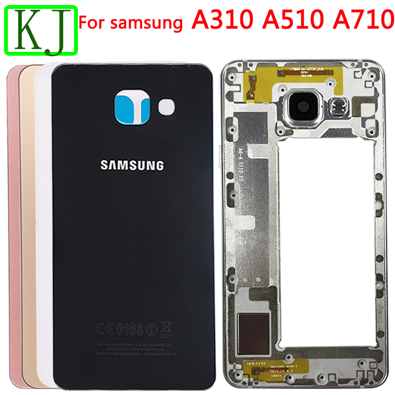 Rear Full Housing For Samsung Galaxy A3 A5 A7 2016 A310 A510 A710 Battery Back Cover Front Middle Frame Board Housing