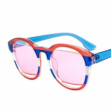 MYT_0174 New Sunglasses Women Round Vintage Sun Glasses Men And Trendy Flag retro Oculos Gafas