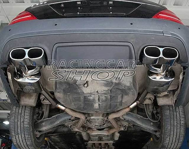 S65 AMG STYLE CHROME QUAD EXHAUST MUFFLER TIPS PIP 1PAIR for Mercedes Benz W221 S-Class M114W 3