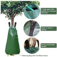 Atualize o saco de rega da árvore 20 galões saco de rega com mangueiras de água para árvores e plantas sistema de gotejamento automático