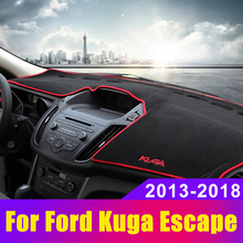 car floor mats case for ford escape kuga maverick 2015 customized auto 3d carpets custom fit foot liner mat car rugs black Car Dashboard Avoid Light Pad Instrument Platform Desk Cover Mats Carpets LHD for Ford Kuga Escape 2013 2014 2015
