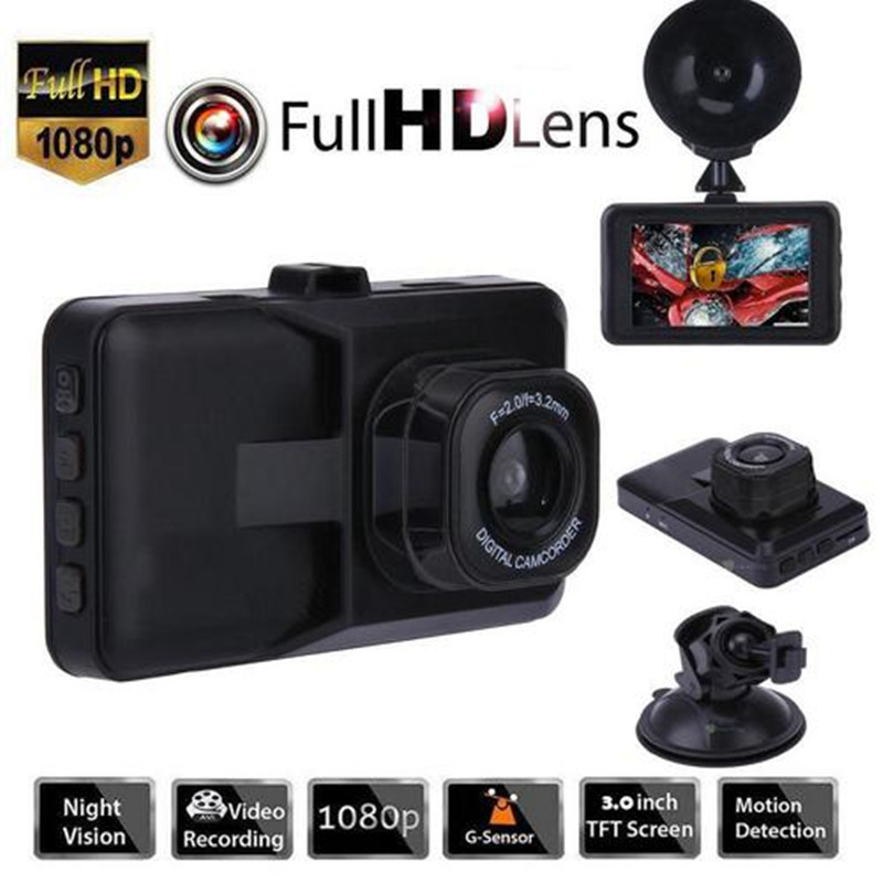 3 zoll Full HD 1080P Auto Fahren Recorder Fahrzeug Kamera DVR EDR Dashcam Mit Motion Detection Night Vision G sensor