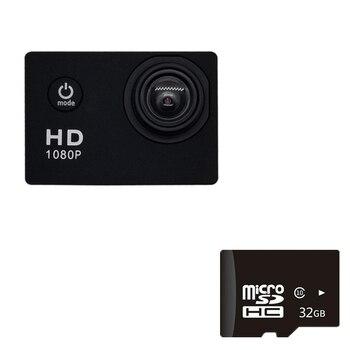 1080P HD Mini Action Camera 12MP Wireless IP Camera Camcorder 30m Waterproof DV Sports Cam CCTV Night Version Human Tracking 12