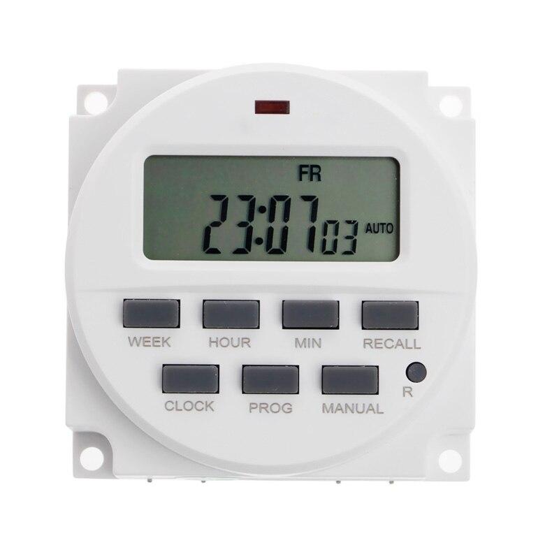 15,98 pulgadas LCD temporizador Digital 220V AC 7 días programable interruptor de tiempo TM618N-2 soporte de envío directo SINOTIMER 5/12/220V semanal 7 días programable Digital Time Switch relé temporizador Control para electrodoméstico 8 Configuración de encendido/apagado